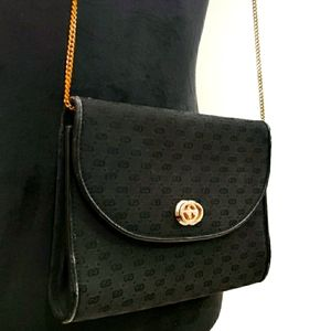 50s VTG RARE Gucci GG Micro Monogram Crossbody Bag